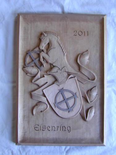 Nr: 6012 Relief Helmzier Pferd Lindenholz