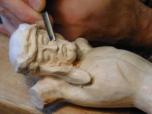 Jesus Detail schnitzen
