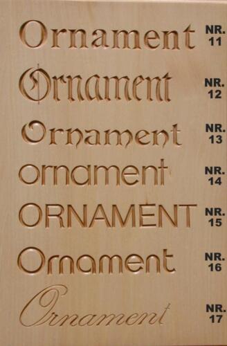 Nr: 4001.2 Schriftmuster Tafel 2