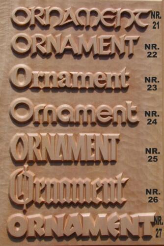 Nr: 4001.3 Schriftmuster Tafel 3