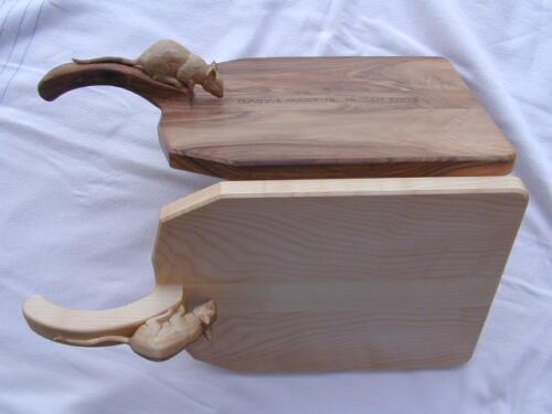 Nr: 1509 Käsebrett mit Maus divese Hölzer