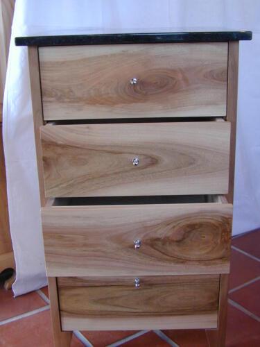 Nr: 7015 Schubladenmöbel Nussbaum Granitabdeckung