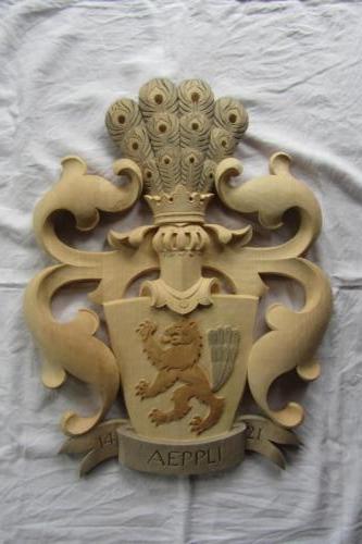 Nr: 6008 db Relief Bügelhelm Lindenholz