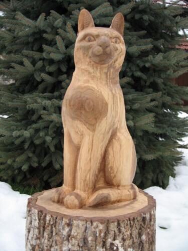 Nr: 5506 Katze Nussbaumholz