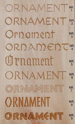 Nr 4001.1 Schriftmuster Tafel 1